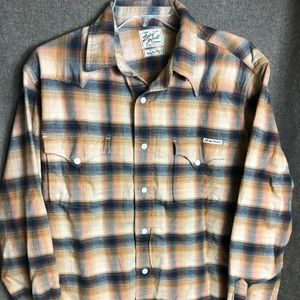 Lucky Brand Flannel Pearl Snap Shirt
